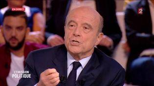 """Alain Juppé, le 6 octobre 2016, dans """"L'émission politique"""" sur France 2. (FRANCE 2)"""