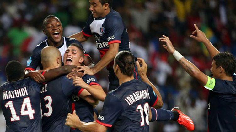 La joie des joueurs du PSG