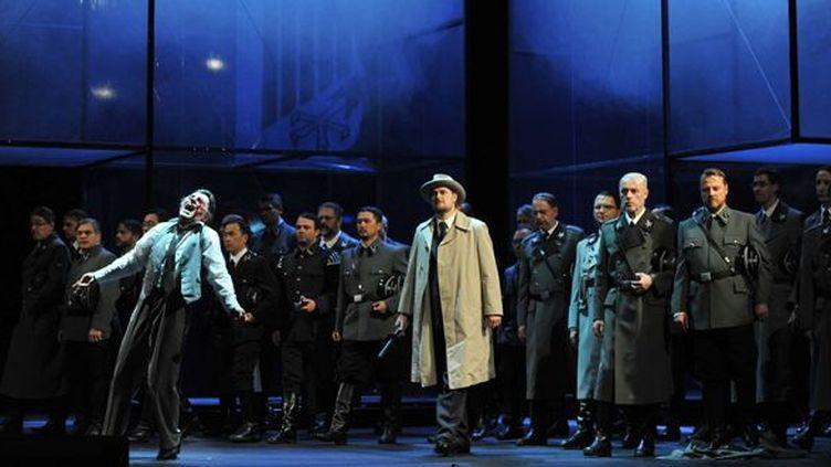 L'opéra Tannhäuser de Wagner version Kosminski, à l'opéra de Düsseldorf.  (Hans Joerg Michel/AP/SIPA)