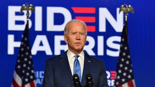 Joe Biden, le 6 novembre 2020 à Wilmington (Delaware). (ANGELA WEISS / AFP)