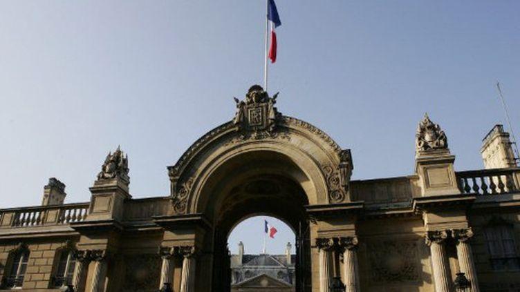 L'entrée du palais de l'Elysée (PATRICK KOVARIK / AFP)