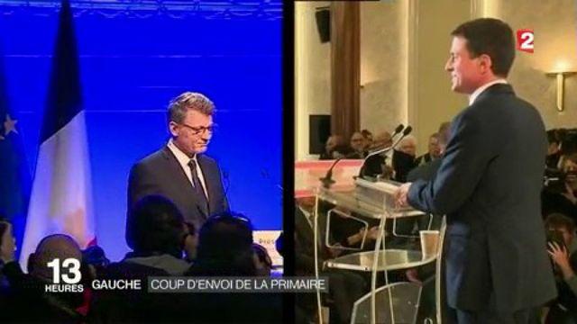 Primaire à gauche : Manuel Valls et Vincent Peillon dans la course