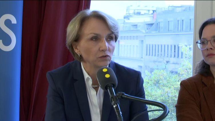 """Anne-Marie Descôtes,ambassadrice de France en Allemagne, invitée du """"8h30 franceinfo"""", vendredi 8 octobre 2019. (FRANCEINFO / RADIOFRANCE)"""