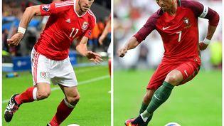 Le pays de Galles de Gareth Bale est opposé au Portugal de Cristiano Ronaldo, mercredi 6 juillet, en demi-finale de l'Euro, à Lyon (Rhône). (PATRICIA DE MELO MOREIRA / AFP)