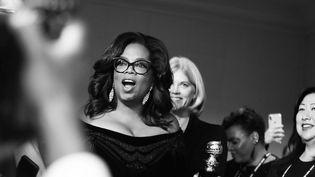 Oprah Winfrey à son arrivée à la soirée des Golden Globes le 7 janvier 2018  (Timpone/BFA/Shutterstoc/SIPA)