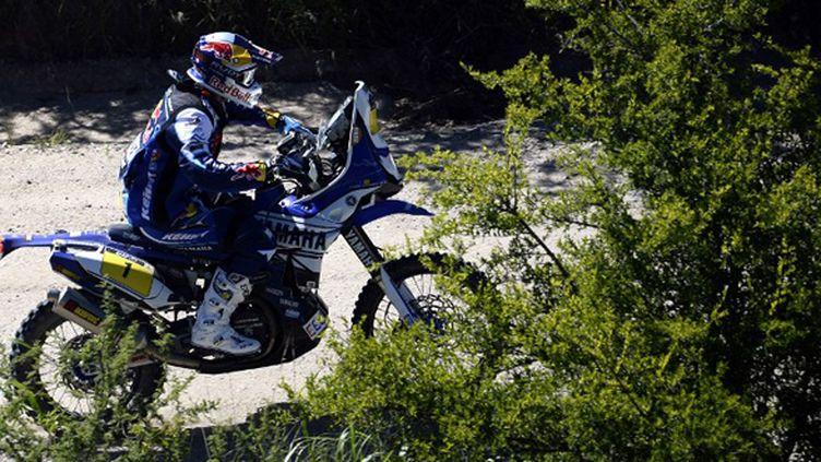 Cyril Despres (Yamaha) sur le Dakar 2014 (FRANCK FIFE / AFP)