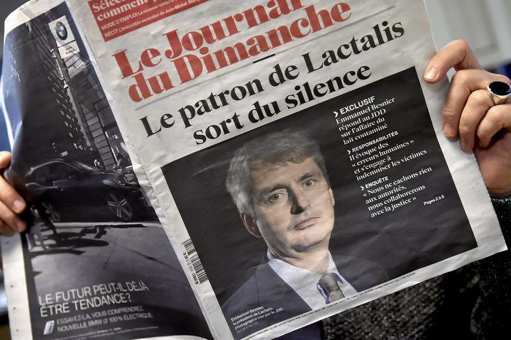 """L'interview du patron de Lactalis dans """"Le JDD"""" du 14 janvier 2018. (MAXPPP)"""