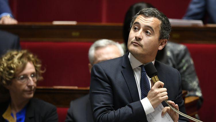 Le ministre de l'Action et des Comptes publics, Gérald Darmanin, le 31 octobre 2017 à l'Assemblée nationale. (LIONEL BONAVENTURE / AFP)