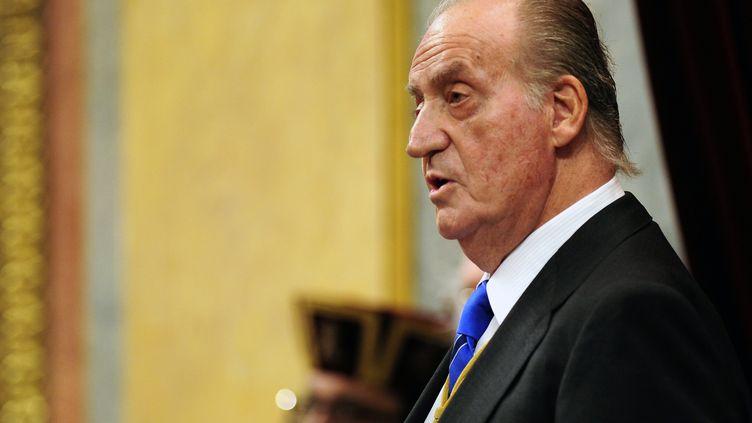 Le roi d'Espagne, Juan Carlos, à Madrid,le 27 décembre 2011. (JAVIER SORIANO / AFP)