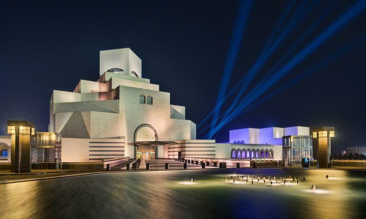 Le musée d'art islamique de Doha (Qatar), conçu par l'architecteIeoh Ming Pei, photographié le 11 décembre 2018. (ANTONIO FIGUERAS / ONLY WORLD / AFP)