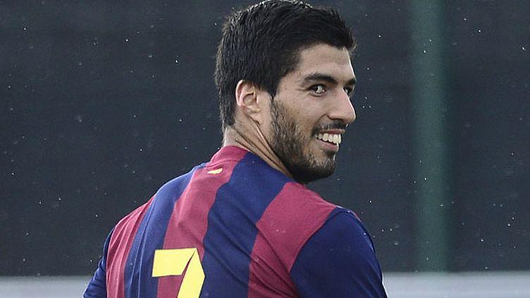 L'attaquant uruguayen du FC Barcelone, Luis Suarez