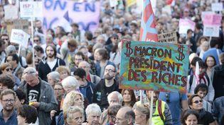 Une manifestation à Paris, le 23 septembre 2017. (GEOFFROY VAN DER HASSELT / AFP)