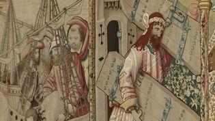Détail d'une des 12 tapisseries constituant la série retraçant la vie du Christ et réalisée entre 1501 et 1518. (CAPTURE D'ÉCRAN FRANCE 3)