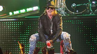 Axl Rose, chanteur des Guns N'Roses, en concert à Liverpool(Royaume-Uni), le 20 mai 2012. (WENN.COM / SIPA)