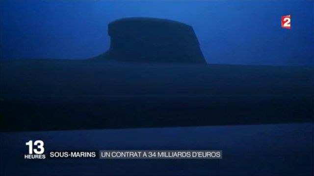 Sous-marins : un contrat à 34 milliards d'euros