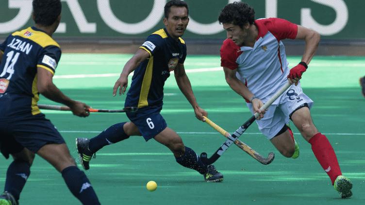 Simon Martin Brisac lors d'un match face à la Malaisie