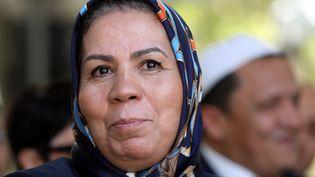 Latifa Ibn Ziaten, la mère d'Imad Ibn Ziaten, premier militaire assassiné à Toulouse, le 19 septembre 2018. (LUDOVIC MARIN / POOL)