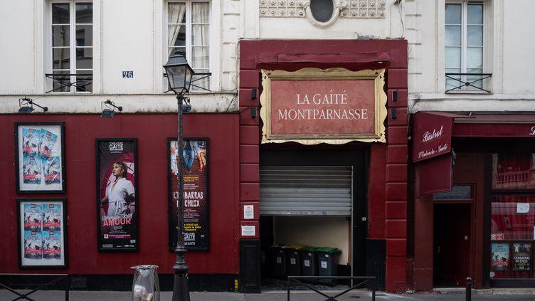 Le théâtre de La Gaîté Montparnasse, à Paris. Théâtre privé, il ne rouvrira qu'en septembre. (RICCARDO MILANI / HANS LUCAS)