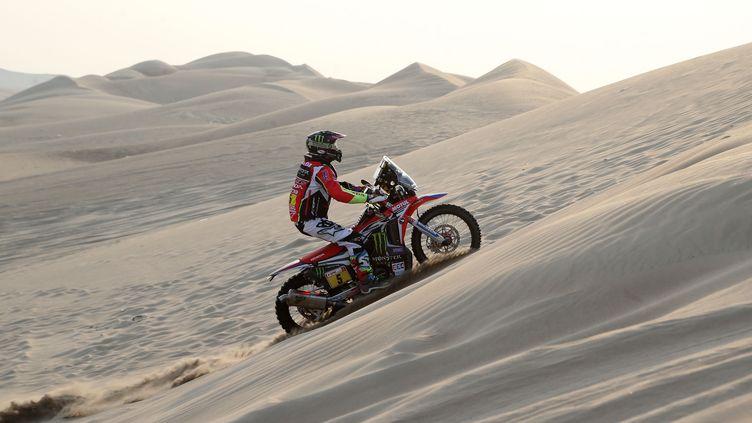Une épreuve du Dakar 2018 au Pérou, le 8 janvier. (MAXPPP)