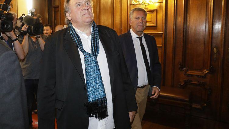 L'acteur Gérard Depardieu, le 25 juin 2018 à Bruxelles (Belgique). (THIERRY ROGE / BELGA MAG)