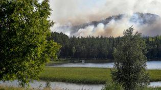 Un incendie dans la forêt de Ljusdal en Suède, le 17 juillet 2018. (MAJA SUSLIN/AP/SIPA)