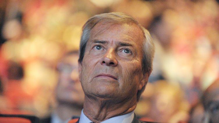 Vincent Bolloré, le 24 juin 2014 à Paris. (ERIC PIERMONT / AFP)