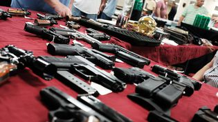 Des armes en vente à Naples (Floride, Etats-Unis), le 24 novembre 2018. (SPENCER PLATT / GETTY IMAGES NORTH AMERICA / AFP)