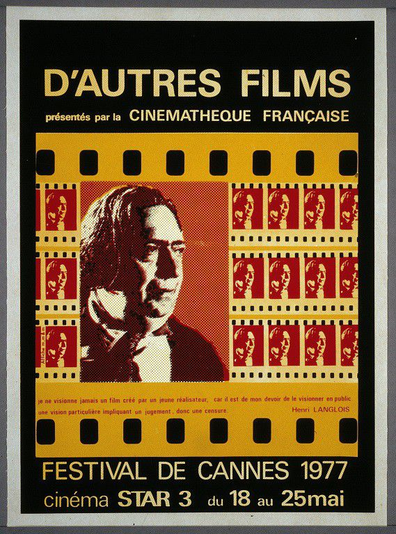 Affiche hommage à Henri Langlois lors du festival de Cannes, 1977  (DR)