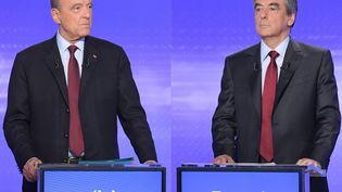 Primaire de la droite: l'ultime débat télévisé Fillon/Juppé jeudi 24 novembre (CHRISTOPHE ARCHAMBAULT / AFP)