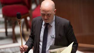 Le député EELV de Paris, Denis Baupin, à l'Assemblée nationale, le 9 mai 2016. (MAXPPP)