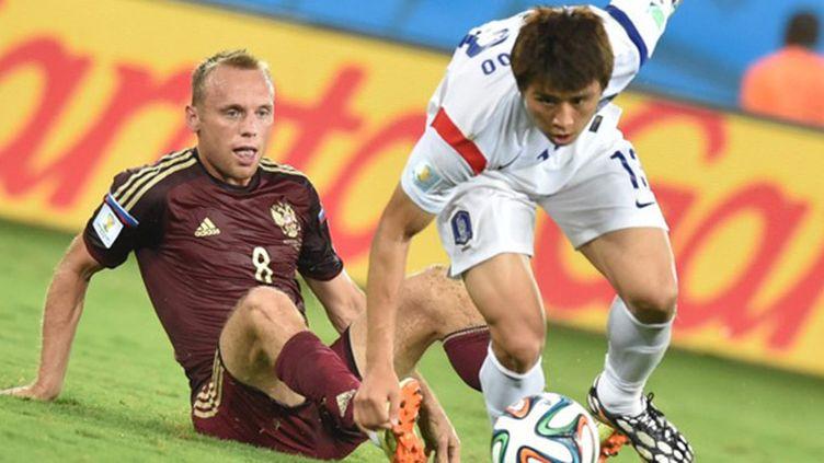 La Sbornaïa a limité la casse en arrachant le nul en fin de match. (KIRILL KUDRYAVTSEV / AFP)