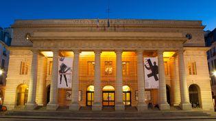 La façade du théâtre de l'Odéon, à Paris, en janvier 2016. (JAVIER GIL / ONLY FRANCE / AFP)