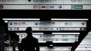 La station de métro Châtelet, à Paris. (PHILIPPE LOPEZ / AFP)