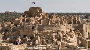 La citadelle de Shalidans l'oasis de Siwa enEgypte, le6 novembre 2020. (KHALED DESOUKI / AFP)