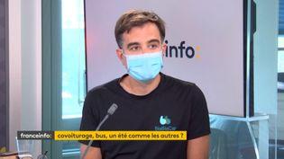 Nicolas Brusson, cofondateur de Blablacar, était l'invité de franceinfo jeudi 1er juillet. (CAPTURE D'ECRAN DAILYMOTION)