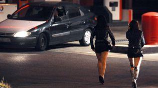 Des travailleuses du sexe, le 19 octobre 2013, à Toulouse. (REMY GABALDA / AFP)