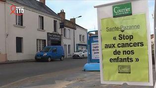 À Sainte-Pazanne, en Loire-Atlantique, une multitude de cas de cancers pédiatriques inquiètent les parents, qui ont pu s'exprimer pour la première fois jeudi 4 avril lors d'une réunion publique. (FRANCE 3)