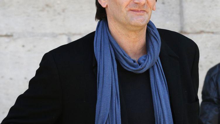 Pierre Palmade aux obsèques de Sylvie Joly, le 9 septembre 2015 à Paris. (FRANCOIS GUILLOT / AFP)