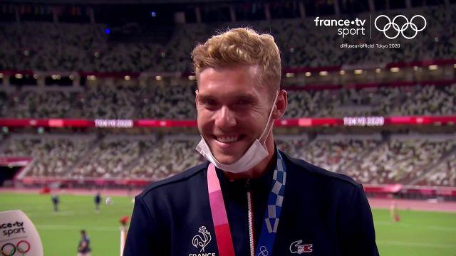 La joie de Kevin Mayer, après son podium, fait plaisir à voir. Le Français estime avoir tout donné au vu de son état physique.