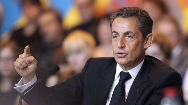 Nicolas Sarkozy (13 octobre 2011 à Chaumont) (AFP)