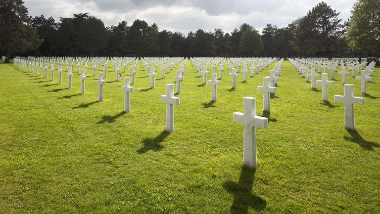 Le cimetière militaire américain de Colleville-sur-Mer (Calvados). (YOUNGTAE / LEEMAGE / AFP)