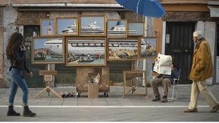 Le street-artist anonyme Banksy expose dans la rue à Venise une série de tableauxcritiques. (Banksy sur banksy.co.uk/)