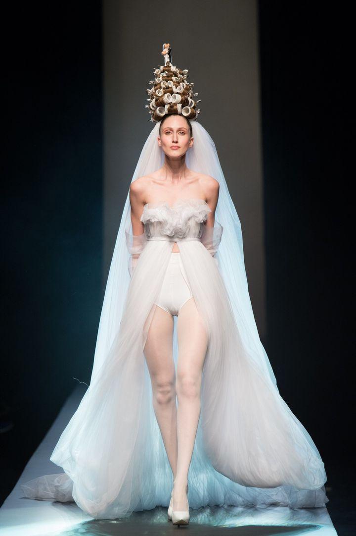 Jean Paul Gaultier haute couture printemps-été 2015, à Paris : collection mariée  (Jean Paul Gaultier)