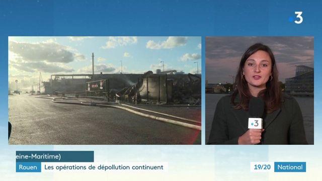 Incendie de l'usine Lubrizol à Rouen : opérations de dépollution en cours