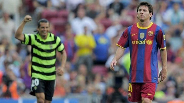 La déception de Lionel Messi (FC Barcelone)