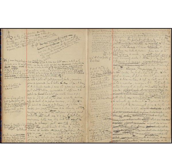 """Brouillons de Marcel Proust """"Ala recherche du temps perdu""""  (Editions les saints-pères)"""
