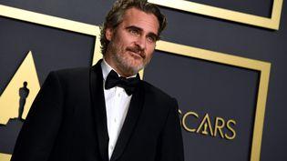 L'acteur américain Joaquin Phoenix le 9 février 2020 à Los Angeles, à la cérémonie des Oscars (JENNIFER GRAYLOCK / MAXPPP)
