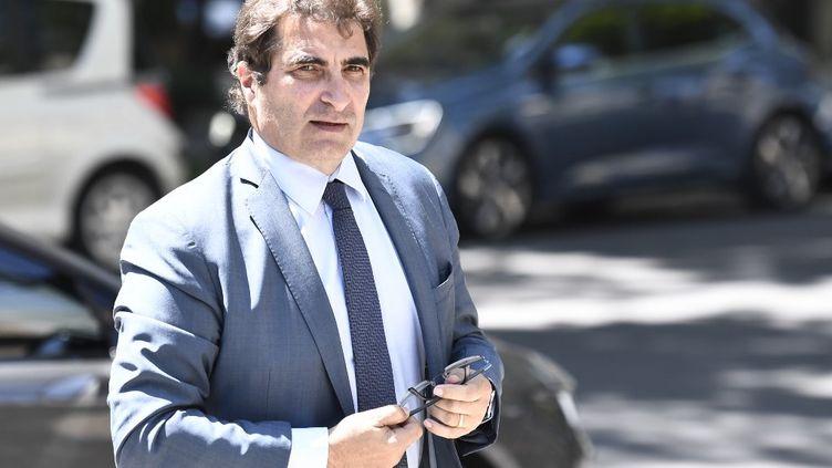 Christian Jacob, le président des Républicains, àNeuilly-sur-Seine (Hauts-de-Seine), le 25 juin 2020. (STEPHANE DE SAKUTIN / AFP)