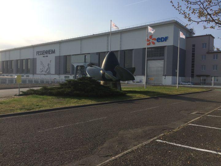 Le 6 avril 2017, la centrale nucléaire de Fessenheim (Haut-Rhin) est quasi déserte : la plupart des travailleurs sont partis manifester. (LICIA MEYSENQ / FRANCEINFO)