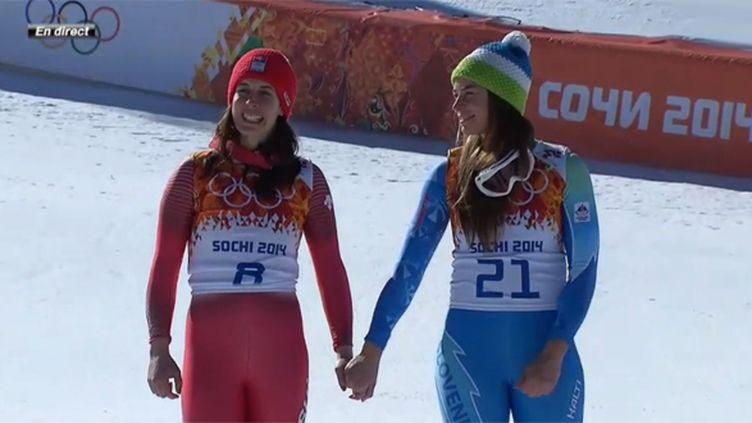 Dominique Gisin et Tina Maze sacrées championnes olympiques